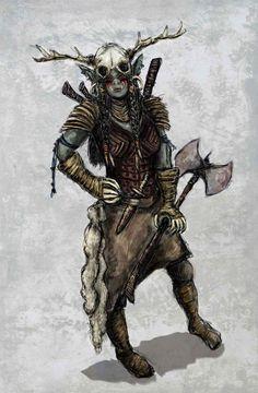 Orc Barbarian - Hyrrokkin ulv Jottenkvinnen by scratchandscribble.deviantart.com on @deviantART