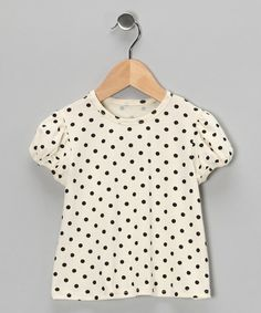Take a look at this Ivory Polka Dot Tee - Infant, Toddler & Girls by Right Bank Babies on #zulily today!