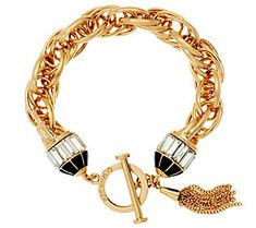 ff28c37a37b C. Wonder Triple Rolo Link Bracelet with Crystal Toggle Station