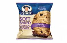 Quaker Soft Baked Oatmeal Cookie- a once in a blue moon sweet craving