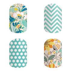 ZEN GARDEN, GREEN CHEVRON, TEAL & WHITE POLKA,SWEET WHIMSY (MATTE)... My four Jam favorites!