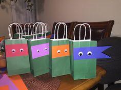 Ninja turtles goodie bags.
