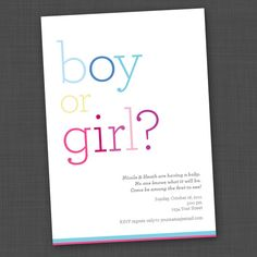 Boy or Girl pink/blue Gender Reveal Party by genderreveal on Etsy, $15.00