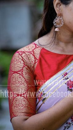 Boat neck boarder blousedesigns - Her Crochet Simple Blouse Designs, Saree Blouse Neck Designs, Stylish Blouse Design, Bridal Blouse Designs, Boat Neck Designs Blouses, Designer Saree Blouses, Designer Blouse Patterns, Pattern Blouses For Sarees, Sari Design
