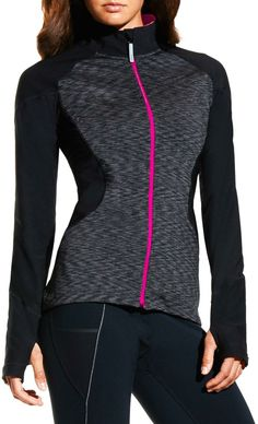 An eye-catching design. Lower sleeves have zippers for cooling.
