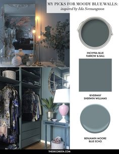Color Therapy: living in a sea of blue — The Decorista Kitchen Paint Colors, Room Paint Colors, Wall Colors, House Colors, Guest Bedroom Decor, Living Room Decor, Living Rooms, Master Bedroom, Inchyra Blue