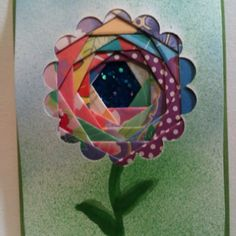 a lot of my iris folding projects are similar to this. I cut out the shapes on my Cricut. Iris Folding Templates, Iris Paper Folding, Paper Folding Crafts, Iris Folding Pattern, Paper Crafts, Art Deco Cards, Paper Weaving, Crafts For Seniors, Card Patterns