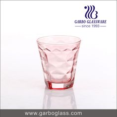 Totally spray color pressed machine made glass tumbler, for drinking water and home using