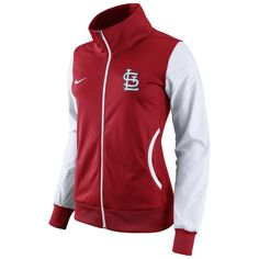 St. Louis Cardinals Nike Women's Track Jacket - Red/White
