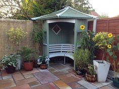 Our Arbour painted willow and stone