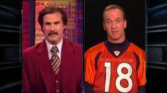 Ron Burgundy Interviews Peyton Manning On Sportscenter