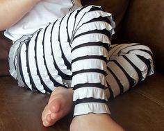 Ruffle Leggings -- FULL LENGTH. $22.00, via Etsy.