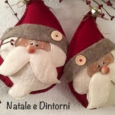 1 million+ Stunning Free Images to Use Anywhere Felt Christmas Decorations, Christmas Ornaments To Make, Christmas Sewing, Father Christmas, Christmas Crafts For Kids, Christmas 2017, Felt Ornaments, Christmas Projects, Felt Crafts