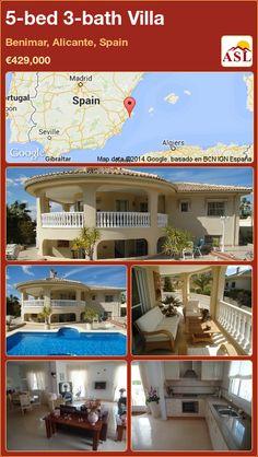 5-bed 3-bath Villa in Benimar, Alicante, Spain ►€429,000 #PropertyForSaleInSpain