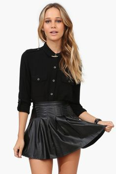 this leather skirt is a must