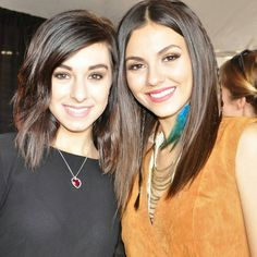 Christina Grimmie and Victoria Justice