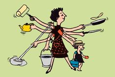 Sometimes I Just Wish I Had Four More Hands | Six Hands Housework Cartoon