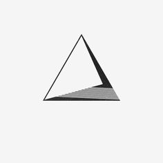 Minimal Origin - Shape 686 - Cal Dean For commission and purchase. Geometric Drawing, Geometric Logo, Geometric Designs, Geometric Shapes, Geometric Patterns, Shape Design, Logo Design, Le Triangle, Triangle Symbol