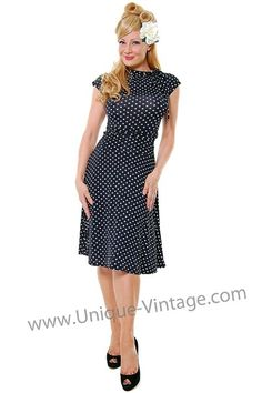 Cute polka-dot dress, perfect for attending a Summer wedding! by valerieroseday
