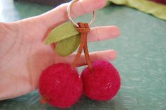 Have you tried felting yet? This cherry accessory is a great place to start