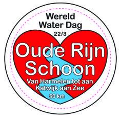 Ontwerp 50 mm button, voor campagne Oude Rijn Schoon www.stichtingaquarius.nl