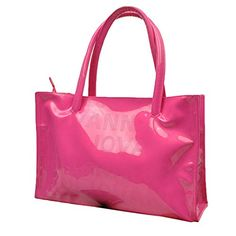 0982277f195 EURO Sky Womens Simple Candy Color PU Leather Handbag Rose Red Buy New    28.99