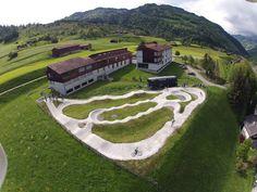 bike park in Jenaz, Switzerland.