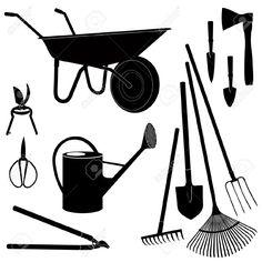 Gardening Tools Isolated On White Background Garden Equipment ...