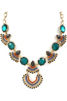Chloe Necklace in Royal and Teal