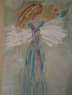 One of the angels in the newest collection, Garden Angels; 5 x 7; acrylic, one of a kind; perfect gift for the Master Gardener; plant lover; bride; bridesmaids, etc., limited number in this Collection.