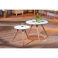 Lot de 2 tables gigognes design  BAMBOU, Miliboo