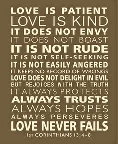 Definition of Love straight from the Bible.