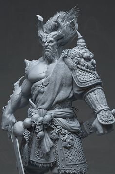 Warrior 3D Art by PRAVEEN DUBEY – zbrushtuts