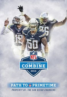 San Diego Chargers - Scouting Combine by Alex McLeland, via Behance