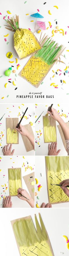 Pineapple favor bags.