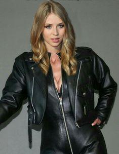 Leather Catsuit, Leather Jumpsuit, Leather Jacket, Steampunk Fashion, Gothic Fashion, Emo Fashion, Leder Outfits, Fall Outfits, Fashion Outfits