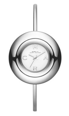 Marc by Marc Jacobs Donut Bangle watch in Silver
