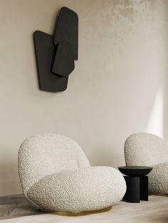 Cozy villa in sunny Istanbul on Behance Bed Furniture, Furniture Design, Interior Styling, Interior Design, Single Sofa, Minimalist Interior, House Rooms, Chair Design, Villa