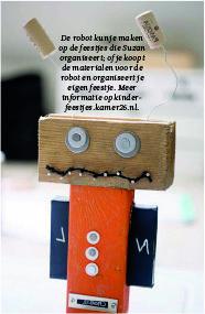 robot oud hout kinderfeestje