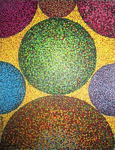 "Pointillism No. 10 ""Particles"" by ~Samuraijose on deviantART Mandala Painting, Dot Painting, 7th Grade Art, Stippling Art, Cool Art Projects, Pencil Art Drawings, Marker Art, Elements Of Art, Art Challenge"