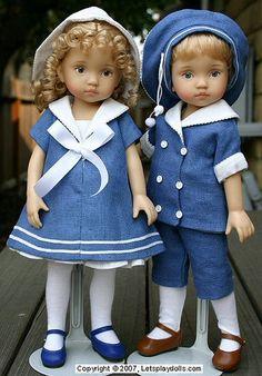Svenja from Boneka clothing on Dianna Effner dolls.  Adorable !