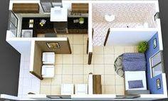 Resultado de imagen para planos de monoambientes de 25 metros cuadrados