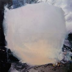 lafilleblanc:  Claire Falkenberg Trash 2011 oil on collaged...