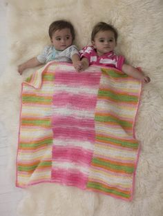 Crochet Patterns Galore - Sweetly Striped Blanket