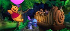 The Winnie-The-Pooh ride at Disneyland