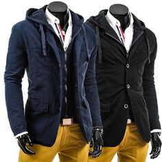 fashion man black and navy blue ma1 bomber jacket tactical jacket man coat with hood and draw cord false two pieces free ship