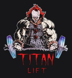 Pennywise by st. Bodybuilding Motivation Quotes, Bodybuilding Pictures, Pennywise The Dancing Clown, Slayer Anime, Cool Sketches, Funny Art, Graphic Design Illustration, Fantasy Characters, Cool Artwork