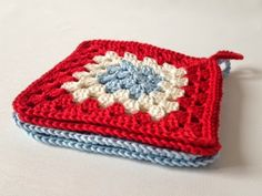 Granny square potholders by One Little Ragdoll