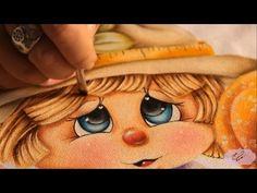 Pintura em tecido - Eliane Nascimento cabelinho da espantalha - YouTube