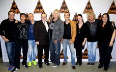 #Def Leppard makes a tour stop at #Encana Events Centre at Dawson Creek, British Columbia, April 20. Welcoming the band are Live Nation's Chad Guy and the venue's Ryan MacIvor, Lara Anderson and Alisha Patterson. (Encana Events Centre) #Pollstar